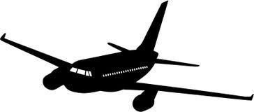 Het silhouet van het vliegtuig Royalty-vrije Stock Foto's
