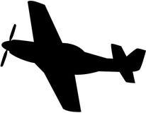 Het Silhouet van het vliegtuig Stock Foto