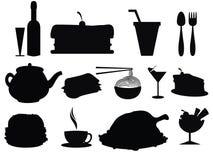 Het Silhouet van het voedsel Stock Afbeelding