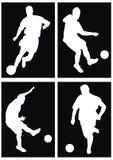 Het silhouet van het voetbal Royalty-vrije Stock Foto