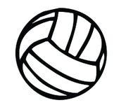 Het silhouet van het volleyball royalty-vrije illustratie