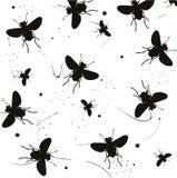 Het Silhouet van insecten Stock Afbeeldingen