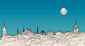 Het Silhouet van Istanboel royalty-vrije illustratie