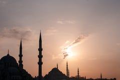Het silhouet van Istanboel royalty-vrije stock afbeeldingen