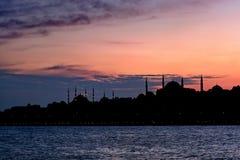 Het silhouet van Istanboel Stock Afbeeldingen