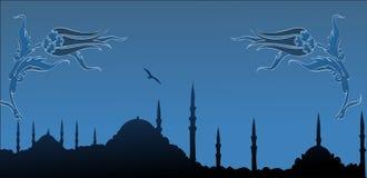 Het silhouet van Istanboel stock illustratie