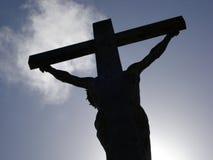 Het silhouet van Jesus Stock Foto's