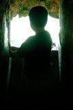 Het Silhouet van jonge geitjes Stock Afbeelding
