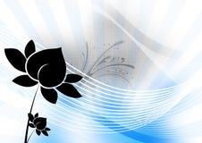 Het silhouet van Lotus Stock Foto