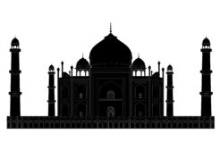 Het silhouet van Mahal van Taj royalty-vrije illustratie