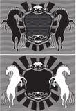 Het silhouet van paarden Stock Fotografie