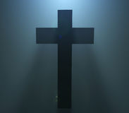 Het silhouet van Pasen Christian Cross Royalty-vrije Stock Foto
