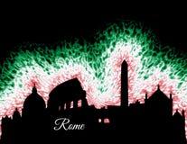 Het Silhouet van Rome Italië Royalty-vrije Stock Afbeeldingen
