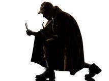 Het silhouet van Sherlock holmes stock afbeelding