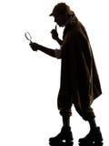 Het silhouet van Sherlock holmes Stock Foto's