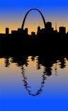 Het Silhouet van St.Louis vector illustratie