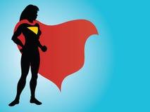 Het Silhouet van Superhero Stock Afbeeldingen