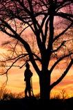 Het silhouet van William Tecumseh Sherman Statue Stock Afbeeldingen