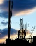 Het silhouet van Workersâ Royalty-vrije Stock Fotografie