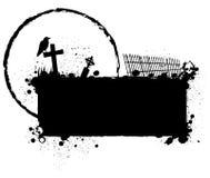 Het silhouetachtergrond van Halloween grunge Stock Afbeelding