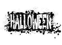 Het silhouetachtergrond van Halloween grunge Stock Fotografie