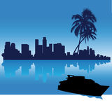 Het silhouethorizon van Los Angeles Royalty-vrije Stock Afbeelding