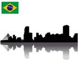 Het silhouethorizon van Sao Paulo Stock Foto
