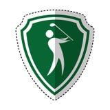 Het silhouetpictogram van de golfspeler vector illustratie