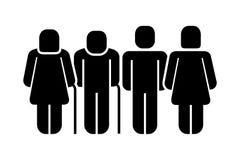 Het silhouetpictogram van het familiecijfer royalty-vrije illustratie