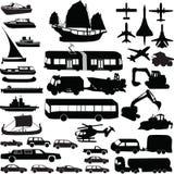 Het silhouetvector van het vervoer Royalty-vrije Stock Afbeeldingen