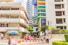 Het Sirirajziekenhuis, het grootste universitaire ziekenhuis in Thailand Het is openbare ruimte royalty-vrije stock foto
