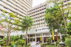 Het Sirirajziekenhuis, het grootste universitaire ziekenhuis in Thailand Het is openbare ruimte stock fotografie
