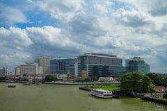 Het Siriratziekenhuis, het belangrijk overheidsziekenhuis in Bangkok, Stock Foto