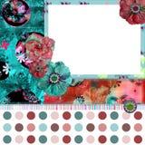 Het sjofele BloemenFrame van de Foto Stock Foto