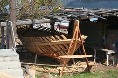 Het skelet van de boot Stock Fotografie
