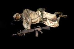 Het skelet van de militair Stock Foto's