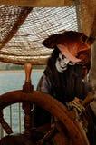 Het skelet van de piraat stock afbeeldingen