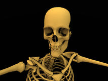 Het Skelet van het beeldverhaal Stock Foto's