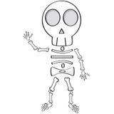 Het skelet van het beeldverhaal Royalty-vrije Stock Foto
