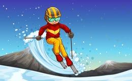 Het skiån stock illustratie