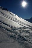 Het skiån in de Zwitserse Alpen royalty-vrije stock afbeelding