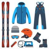 Het skiån Extreme wintersporten Stock Foto's