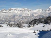 Het skiån helling stock afbeelding