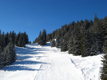 Het skiån helling stock afbeeldingen
