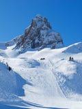 Het skiån helling stock fotografie