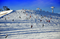 Het skiån helling. royalty-vrije stock foto