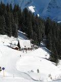 Het skiån lift Stock Fotografie