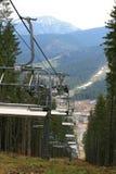Het skiån lift Royalty-vrije Stock Foto's
