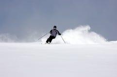 Het skiån van het poeder Stock Fotografie