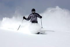Het skiån van het poeder Stock Foto